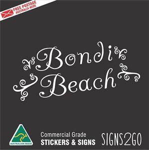 CAR STICKER BONDI BEACH For Car Truck Ute Van Caravan Macbook ipad Laptop Surf