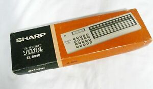 SHARP EL-8048 Calculator + Japanese Abacus Soroban Original Box On Sale