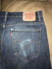 "Men's Levi 521 blue jeans<36"" x 34""(verified)<>zip fly/slim taper"