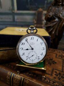 Perfecta Taschenuhr 800er Silber um 1900
