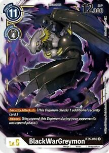 BlackWarGreymon BT5-069 R Digimon Card