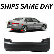 New Primered - Rear Bumper Cover For 2003 2004 2005 Honda Accord Sedan 03-05