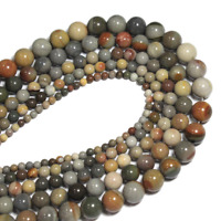 For Bracelet Jewelry DIY Natural American Drawing Stone Loose Beads 4 6 8 10mm