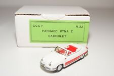 . CCC CLASSIQUES PANHARD DYNA Z CABRIOLET WHITE RED NEAR MINT BOXED