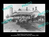 OLD POSTCARD SIZE PHOTO OF MOUNT BARKER SA THE SALVATION ARMY BOYS HOME c1900