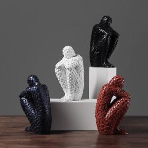 Modern Art Sculpture Resin Sitting man Position body statue Creative Crafts Deco