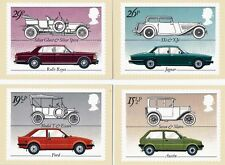 GB 1982 PHQ Cards Mint Set~British Cars~(4)~PHQ-63~UK Seller