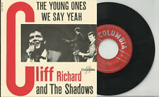 CLIFF RICHARD Shadows 2 track pic sleeve 45 THE YOUNG ONES We Say Yeah Belgium