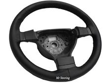 FOR SUZUKI ALTO REAL BLACK PERFORATED LEATHER STEERING WHEEL COVER 2009-2014 NEW