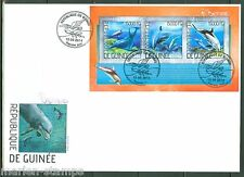 GUINEA 2014 DOLPHINS SHEET FIRST DAY COVER