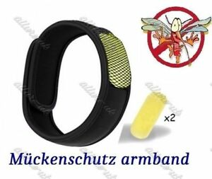 Mückenschutz Armband 2 Wirkstoff Pellets Bug Insect Repellent Anti Mosquito Band