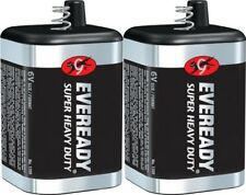 2 Eveready 1209 Zinc-Carbon Super Heavy Duty Lantern 6 Volts Batteries