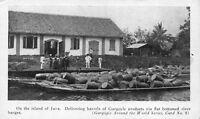 Advertising Postcard Delivering Barrels of Gargoyle Marine Oil in Java~118305