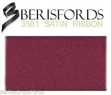 Double Satin Ribbon Shades of Red 6 Colours 8 Widths 5 Lengths Berisfords Burgundy #405 25mm X 3mtrs