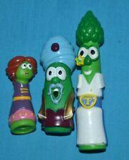 Lot of 3 Veggie Tales Figures Toys Veggietales