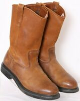 Red Wing Shoes 1105 Pecos Brown Leather Pull-On Cowboy Boots Men's US 8E
