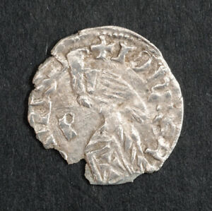 1377, Wallachia, Radu I. Rare Silver Ducat Coin. Relative of Dracula. Damaged!