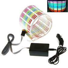 New Car Sticker Music Rhythm multicolour LED Flash Light Sound Equalizer 70*16cM