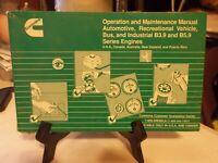 CUMMINS B3.9 B4.5 B5.9 ENGINE OPERATION & MAINTENANCE MANUAL