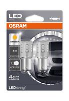 Osram LED Indicator Bulbs 380A Amber BAY15d P21/5W Bayonet 12v 1W 1457YE-02B