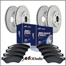 Front+Rear Kit Drilled Slotted Brake Rotors & Ceramic Pads Chevy Escalade Yukon