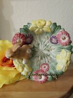 Fitz And Floyd Spring Easter Classics Bowl Dish Bunny Rabbit & Flowers 6.5""