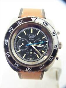 Vintage MOVADO DATRON HS360 PILOT- ZENITH EL Primero Chronograph Automatic Watch