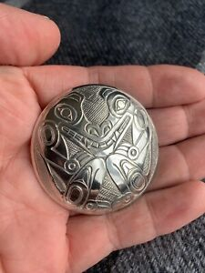 Northwest Coast Native Art (Haida) Sterling Silver Wolf Pendant