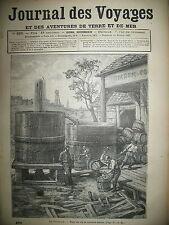 JOURNAL DES VOYAGES N° 292 ETATS-UNIS PENSYLVANIE OIL CITY PUITS PETROLE 1883