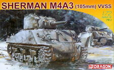 Dragon 1/72 7274 WWII US Army Sherman M4A3 105mm VVSS Medium Tank