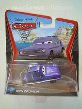 CARS Disney pixar cars 2 DON CRUMLIN numero 31 RARO mattel scala 1:55 maclama