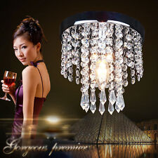 NEW Chrome Crystal ceiling Lights Aisle lamp Fixtures pendant Chandelier 7337U