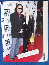 "Original Press Photo - 8""x6"" - KISS - Gene Simmons & Shannon Tweed - 2005"