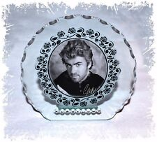 George Michael photo Diamante round Plaque gift  any occasion perfect keepsake