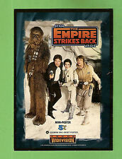 #D264. STAR  WARS EMPIRE STRIKES BACK GERMAN MINI POSTER   PROMOTIONAL  CARD