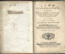 Boriglioni - Anno Ecclesiastico - 2 Volumi Torino Stamperia Reale 1765 II Edz.