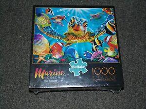 Buffalo Games - Marine Color TINY BUBBLES 1000 Piece Jigsaw Puzzle - Sea Turtle