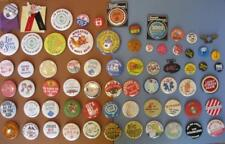 70s Vintage Pinback Button Huge Lot 68 Advertising Lucky Strikes Hoagie Snow EMS