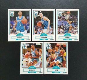 Fleer 90 NBA Basketball Cards x 5 - Charlotte Hornets #16 #17 #18 #19 #20