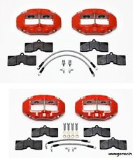 WILWOOD BRAKE CALIPER,PAD,& LINE KIT,FRONT & REAR,1965-1982 CORVETTE C2,C3,Red