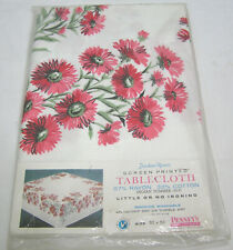 """Vtg Tablecloth Unused Indian Summer Pattern Daisy in OP Fashion Manor 52"""" Square"""