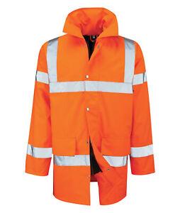Hi Vis Hi Visibility 3/4 Length Jacket - Hi Viz Orange - TRISTAN