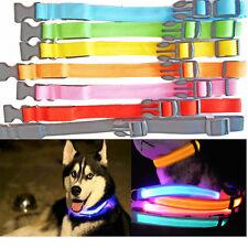 LED Pet Collar Neck Leash Strap Belt Dog Adjustable Safety Rope Harness Walking