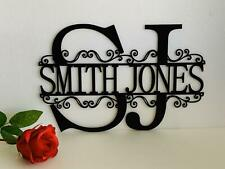 2 Letter Initials, Split Wall Monogram, Custom Names Hanging Sign Christmas Gift