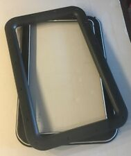 Travel Trailer RV Camper Black Entrance Door Window Interior Exterior Frame