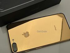 Apple iPhone 7 Plus - 128GB - Jet Black Custom 24K 24ct Gold Swarovski Crystal