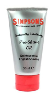 Simpsons Pre-shave-oil 50 ML pre Shave Oil Natural Vitalizing Made IN UK