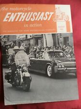 More details for 1962 harley-davidson magazine the enthusiast jfk assassination, kennedy in limo.