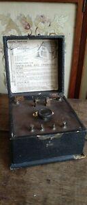 Crystal receiver set, 1920's.  Hawkers Ltd, Birmingham