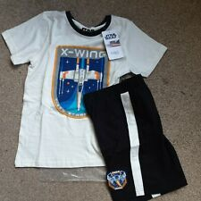 M&S 10-11 Years X Wing Pyjamas Shorts T Shirt BNWT